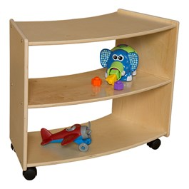 "Curved Mobile Shelving (24"" H) - Assembled"