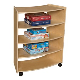 "Curved Mobile Shelving (36"" H) - Assembled"