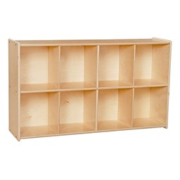 Eight-Tray Wooden Storage Unit