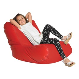 High-Back Bean Bag Chair - Large - Red