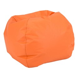 "Round Bean Bag Chair (26"" D) - Orange"