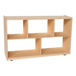 Five Shelf Storage Unit w/ See Thru Back