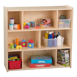 Wooden Storage Cabinet w/ Eight Shelves - Assembled