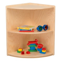 "Classroom High Corner Shelf w/ Two Shelves (22"" H)"