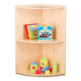 "Classroom High Corner Shelf w/ Two Shelves (29"" H)"