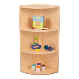 "Classroom High Corner Shelf w/ Three Shelves (36\"" H)"