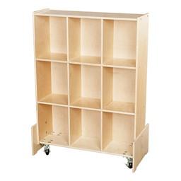 Wooden Mobile Storage Unit w/ White Board