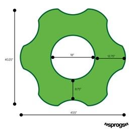 Foam Soft Seating - Six Point Gear - Dimensions