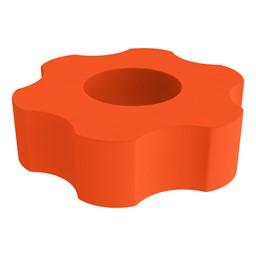 Foam Soft Seating - Six Point Gear - Orange
