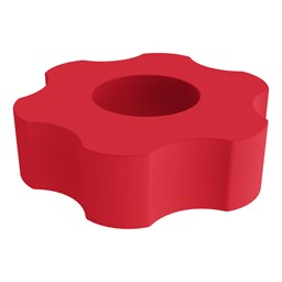 Foam Soft Seating - Six Point Gear - Red