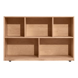 Maple Five Section Classroom Shelving Unit