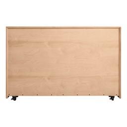 Maple Five Section Classroom Shelving Unit - Back