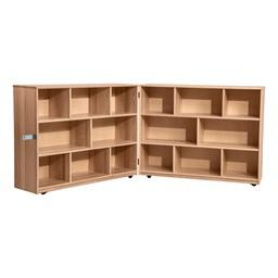 """Maple Folding Storage Unit - 36"""" H"""