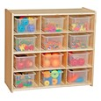 12-Tray Wooden Storage Unit