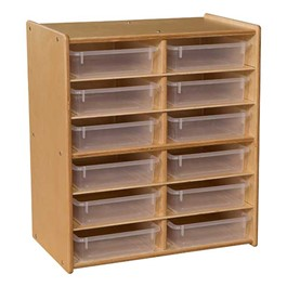 Stationary Letter Tray Storage Unit