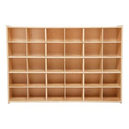 30-Tray Wooden Storage Unit - Assembled & w/o Trays