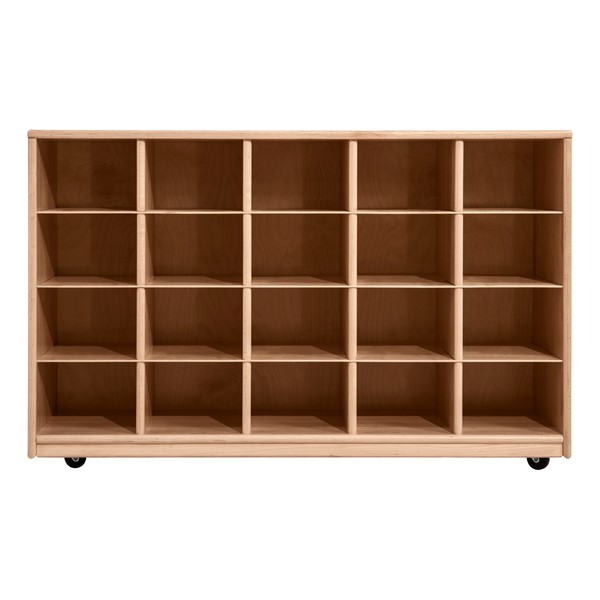 Maple 20-Tray Cubby Storage Unit w/o Trays