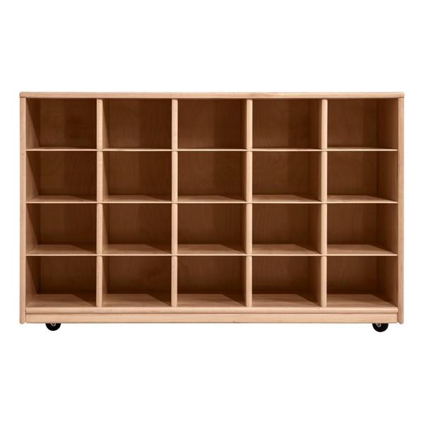 Maple 20-Tray Cubby Storage Unit w/o Trays