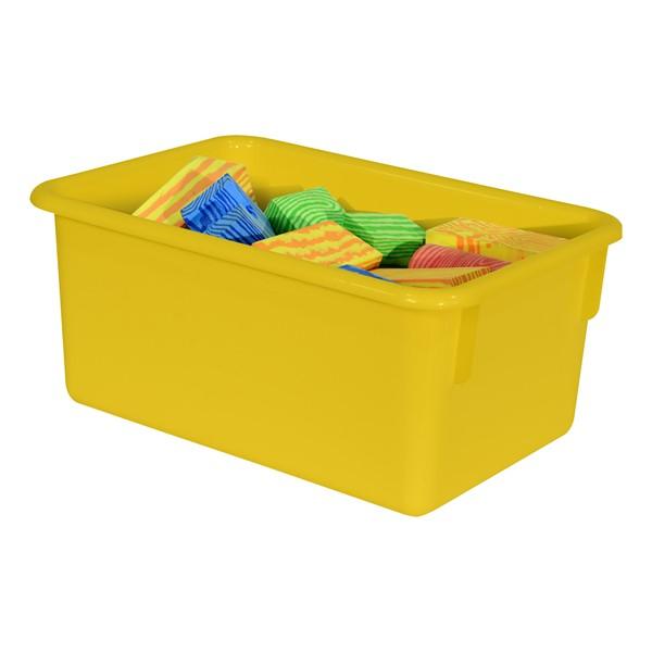Maple 20-Tray Cubby Storage Unit - Yellow Tray