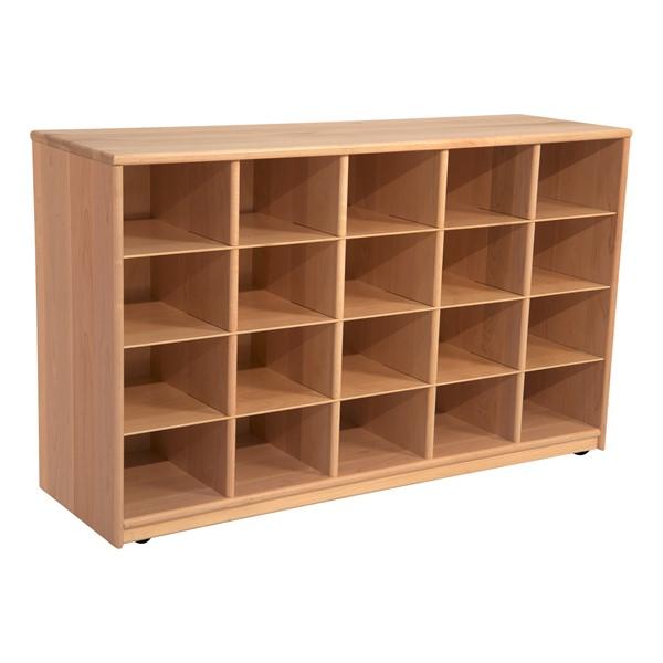 Maple 20-Tray Cubby Storage Unit - w/o Trays