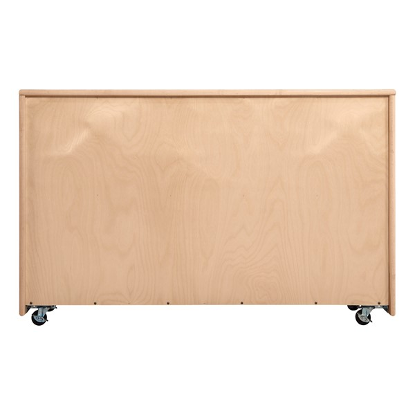 Maple 20-Tray Cubby Storage Unit - Back