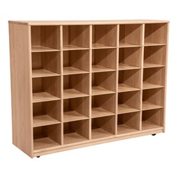 Maple 25-Tray Cubby Storage Unit w/o Trays