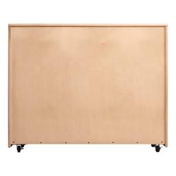 Maple 25-Tray Cubby Storage Unit - Back