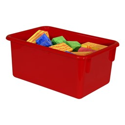 Maple 25-Tray Cubby Storage Unit - Red Tray