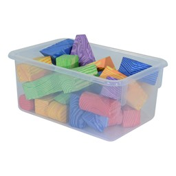 Maple 25-Tray Cubby Storage Unit - Clear Tray