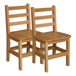"""Hardwood Ladderback Chair (14"""" Seat Height) - Pack of Two"""