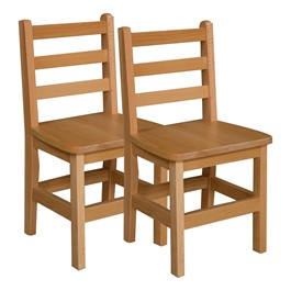 "Hardwood Ladderback Chair (14"" Seat Height) - Pack of Two"
