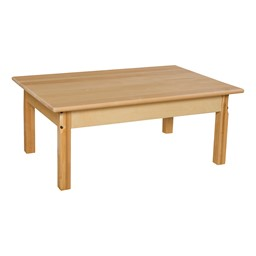 "Rectangle Hardwood Table (24"" W x 36"" L)"