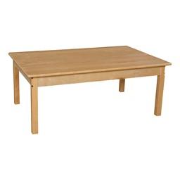 "Rectangle Hardwood Table (30"" W x 48"" L)"