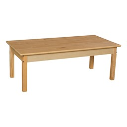 "Rectangle Hardwood Table (24"" W x 48"" L)"