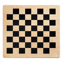 Wooden Four-in-One Game Table - Checkerboard