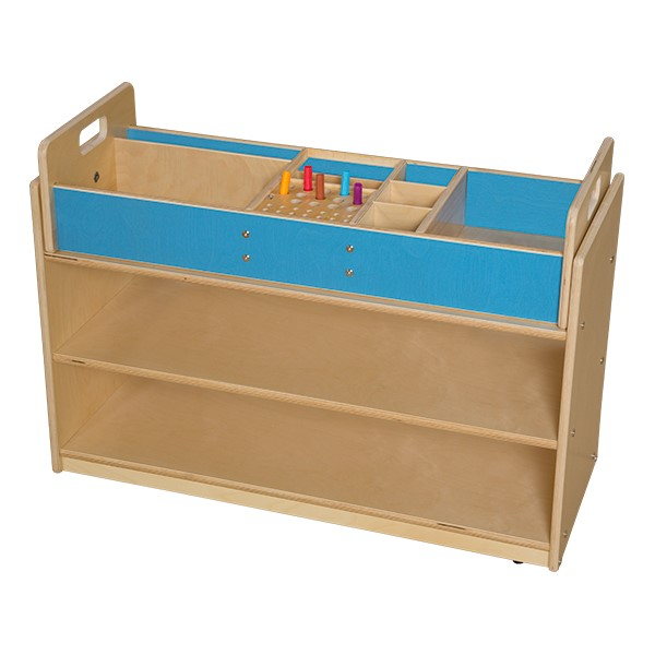 Mobile Base Cabinet w/ Organizer Topper - Assembled