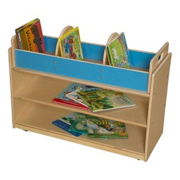 Mobile Base Cabinet w/ Book Storage Topper - Assembled