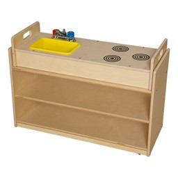 Mobile Base Cabinet w/ Play Sink Topper - Unassembled