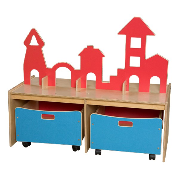 Castle Play w/ Storage Bins - Blue