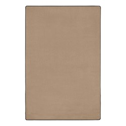Heavy-Duty Solid Color Classroom Rug - Rectangle (12' W x 18' L) - Almond