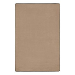"""Heavy-Duty Solid Color Classroom Rug - Rectangle (7' 6"""" W x 12' L) - Almond"""