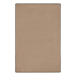 Heavy-Duty Solid Color Classroom Rug - Rectangle (12\' W x 15\' L) - Almond