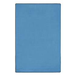 Heavy-Duty Solid Color Classroom Rug - Rectangle (12' W x 18' L) - Bluebird