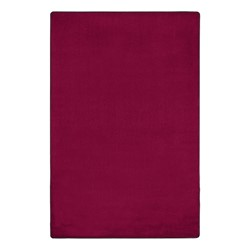 Heavy-Duty Solid Color Classroom Rug - Rectangle (12' W x 18' L) - Cranberry