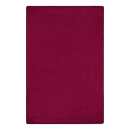 """Heavy-Duty Solid Color Classroom Rug - Rectangle (7' 6"""" W x 12' L) - Cranberry"""