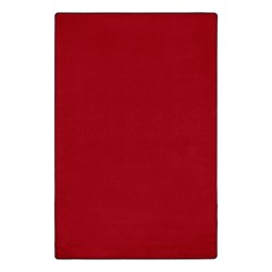 Heavy-Duty Solid Color Classroom Rug - Rectangle (12' W x 18' L) - Rowdy Red