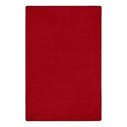 """Heavy-Duty Solid Color Classroom Rug - Rectangle (7' 6"""" W x 12' L) - Rowdy Red"""
