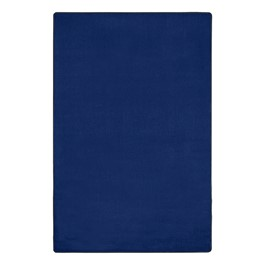 "Heavy-Duty Solid Color Classroom Rug - Rectangle (7\' 6"" W x 12\' L) - Royal Blue"
