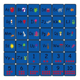 Alphabet Seating Learning Carpet Squares - Set of 36