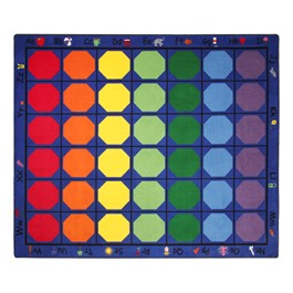 "Alphabet Seating Rug™ - Rectangle (10\' 9\"" W x 13\' 2\"" L)"